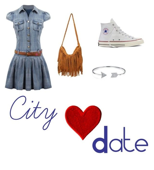 """Date in the city"" by mercy123 ❤ liked on Polyvore featuring Converse and Bling Jewelry"