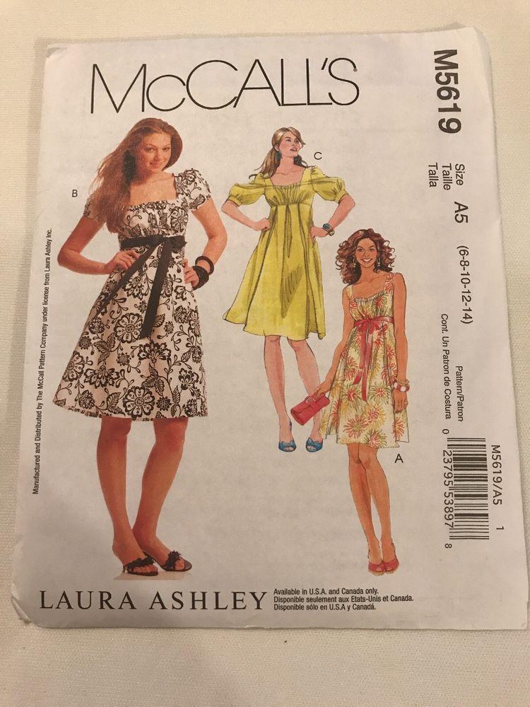 c756daf35a8 McCall s Pattern Uncut M5619 Laura Ashley Summer Dress