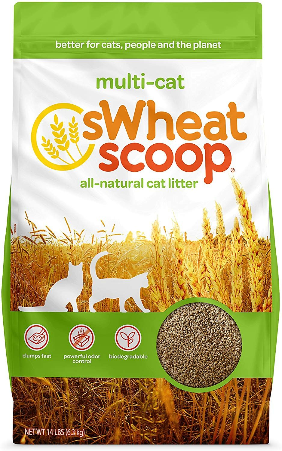 sWheat Scoop MultiCat AllNatural Clumping Cat Litter
