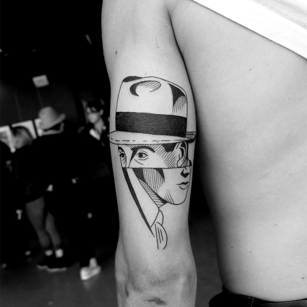 Small Mirror Tattoo: Black And White Expressive Tattoos By Sixo Santos