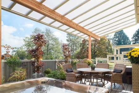 Captivating Patio Cover, Natural Light Patio Cover, Wood Patio Cover, Bright Patio Cover