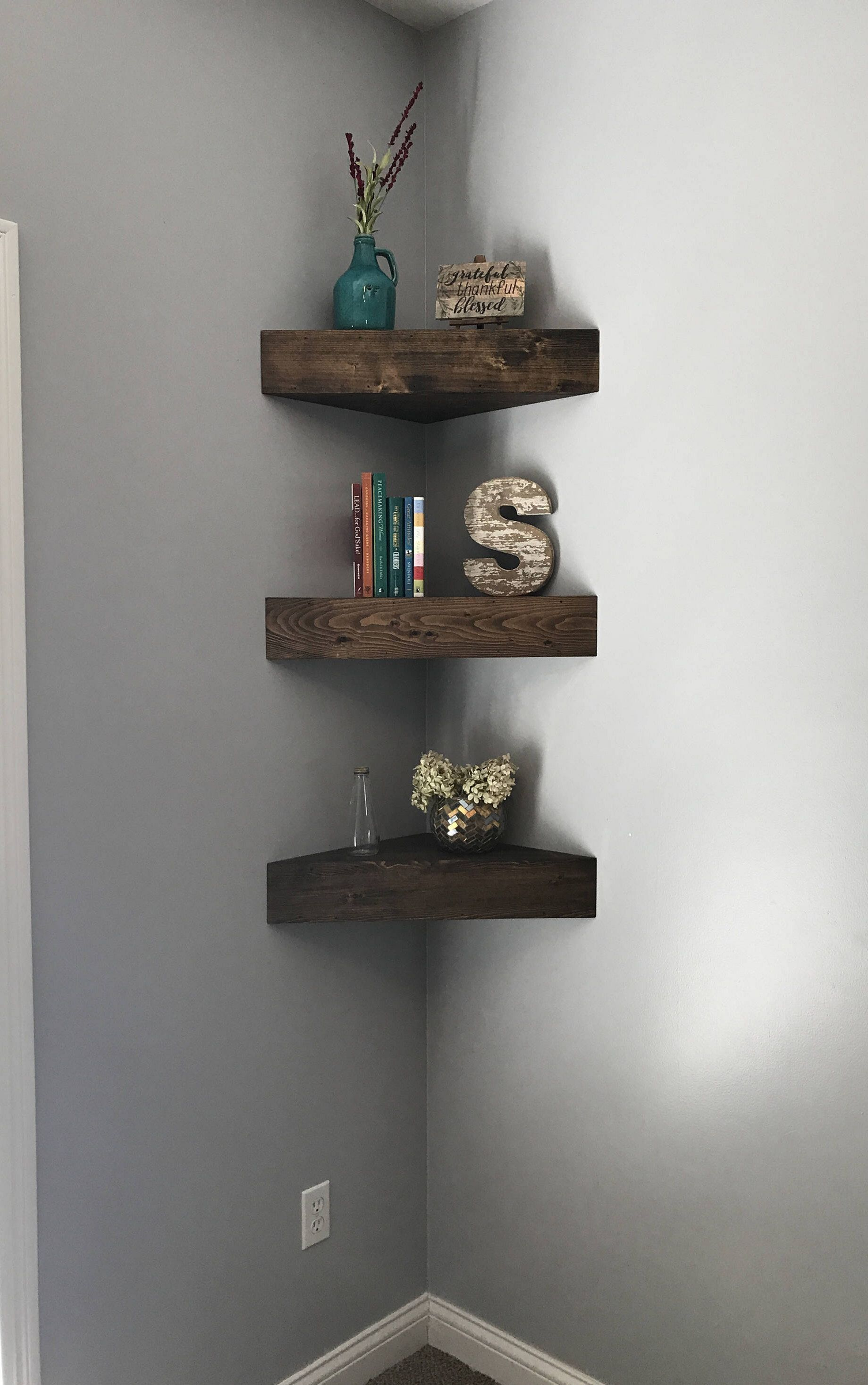 10 Amazing Diy Floating Corner Shelf You Have Must See Rustic Shelves Floating Corner Shelves Nursery Shelves