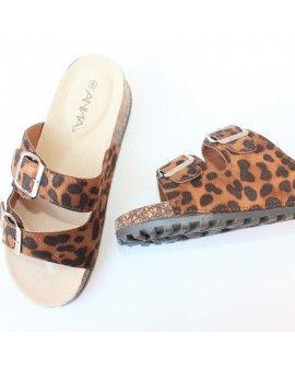 Anna Leopard- shoes- sandals