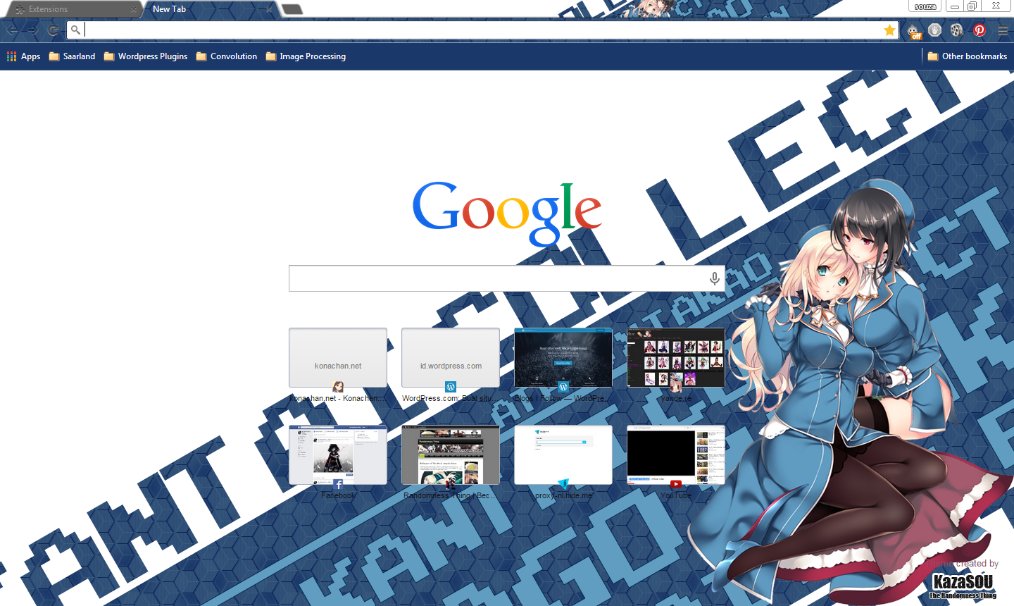Google themes blue - Themes Download