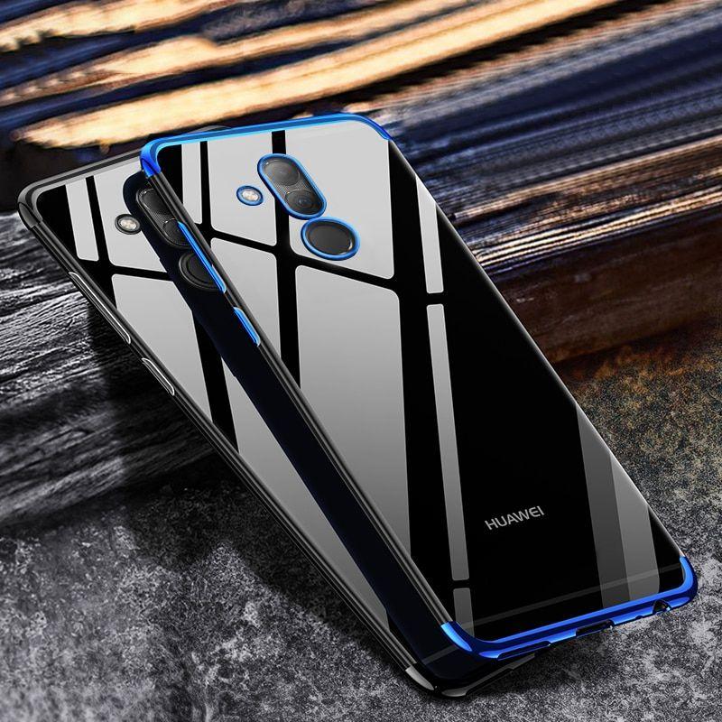 Bumper Case For Huawei Mate 20 Lite Case Luxury Transparent TPU ...