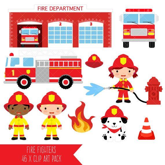 Firefighter Clipart Fire Fighter Fireman Fire Engine Fire