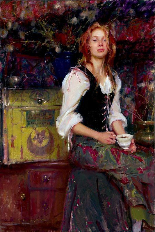 'Coffee' -  Daniel F. Gerhartz  (b.1965)
