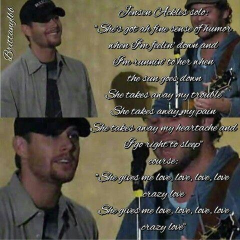 """Crazy Love"" Jensen Ackles and Jason Manns"