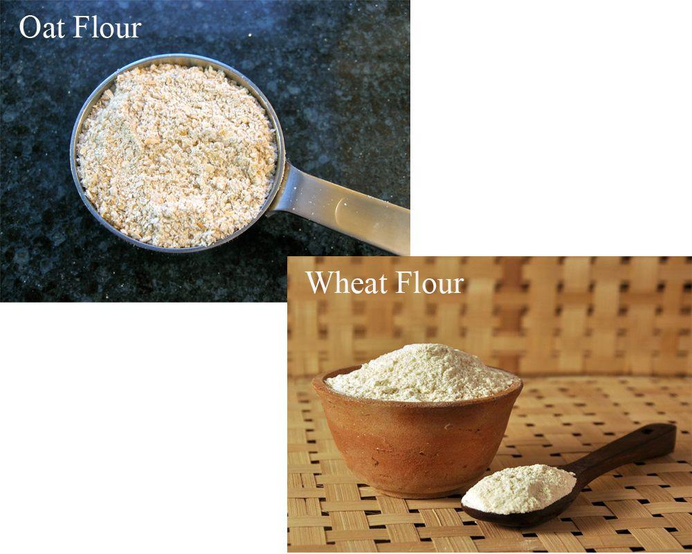 Oat Flour vs Wheat Flour | Wheat flour, Oats, Oat flour