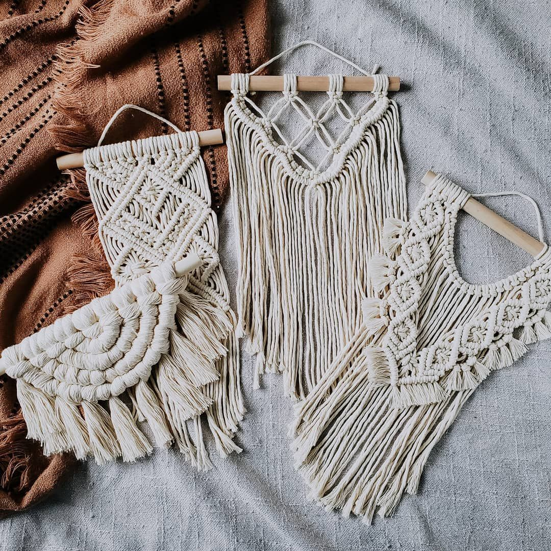 "h a l f w a y h y g g e on Instagram: ""Want to add some macrame to your walls without breaking the bank? Or maybe you're just looking for dorm decor for this upcoming fall? These…"""