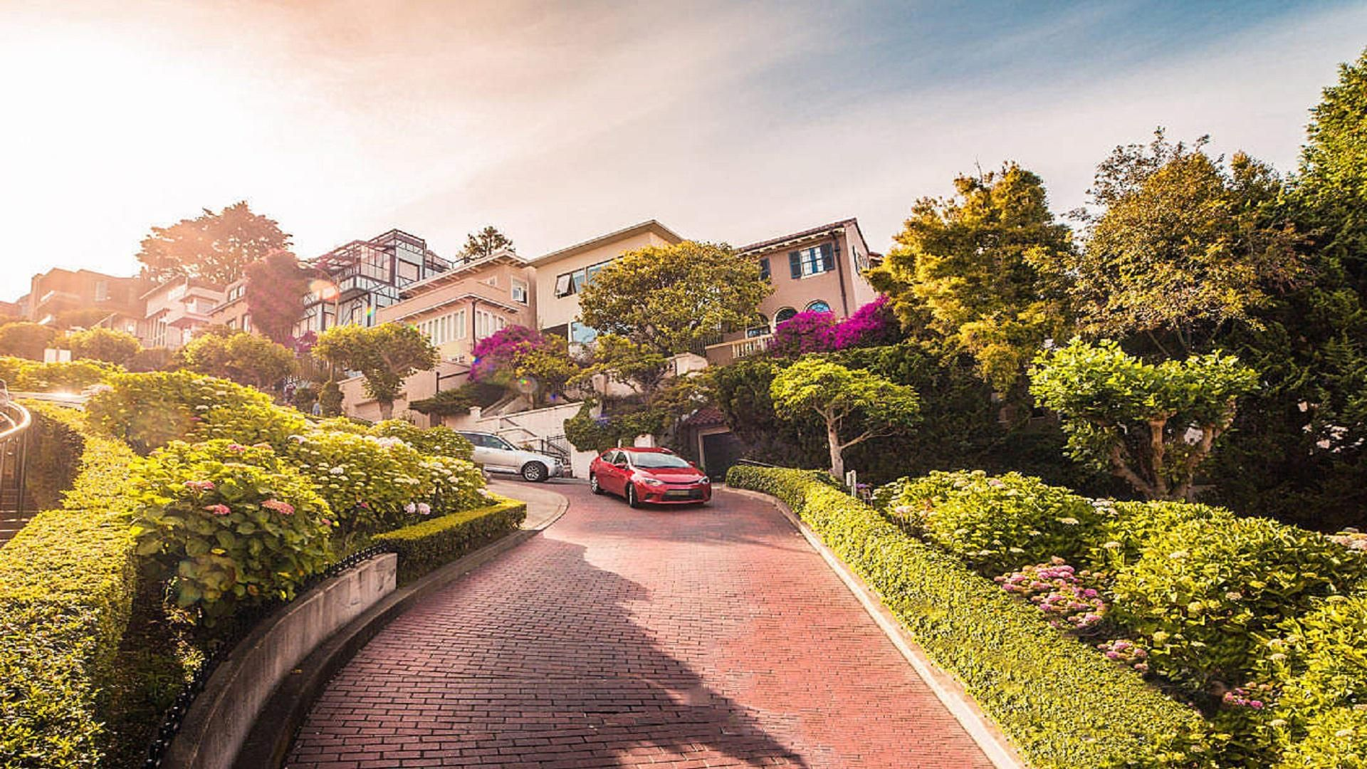 Lombard street in san francisco california 1920x1080