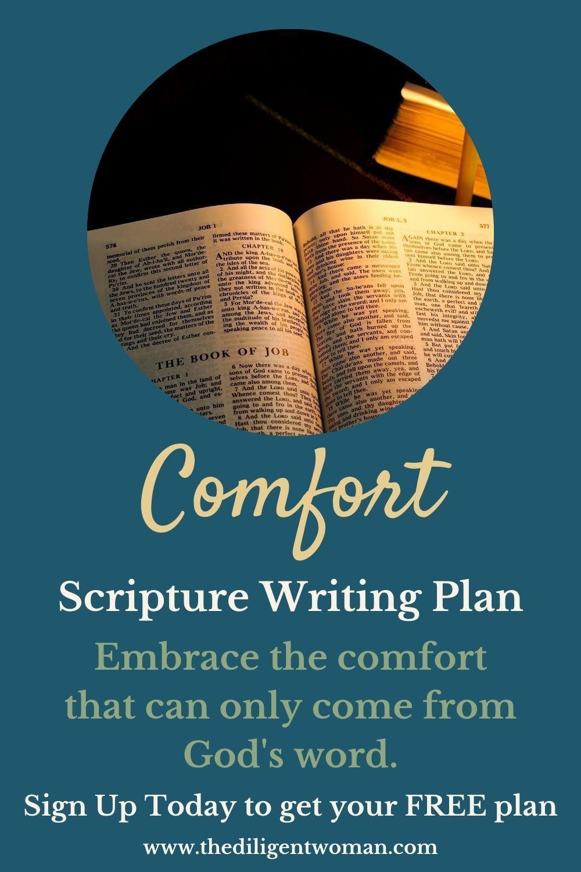 Scripture Writing Plan Comfort 1 Scripture Writing Plans Read Bible Writing Plan