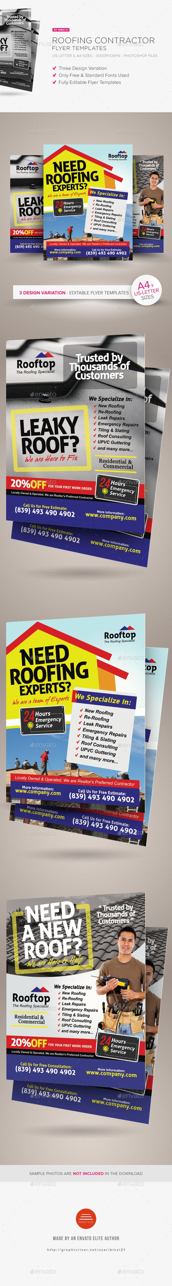 roofing contractor flyer templates flyer template roofing