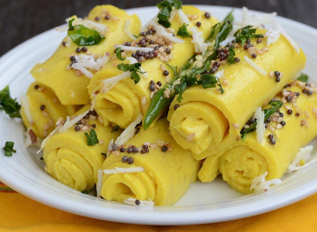 Khandvi gujarati recipe master chef tarla dalal snacks food forumfinder Image collections