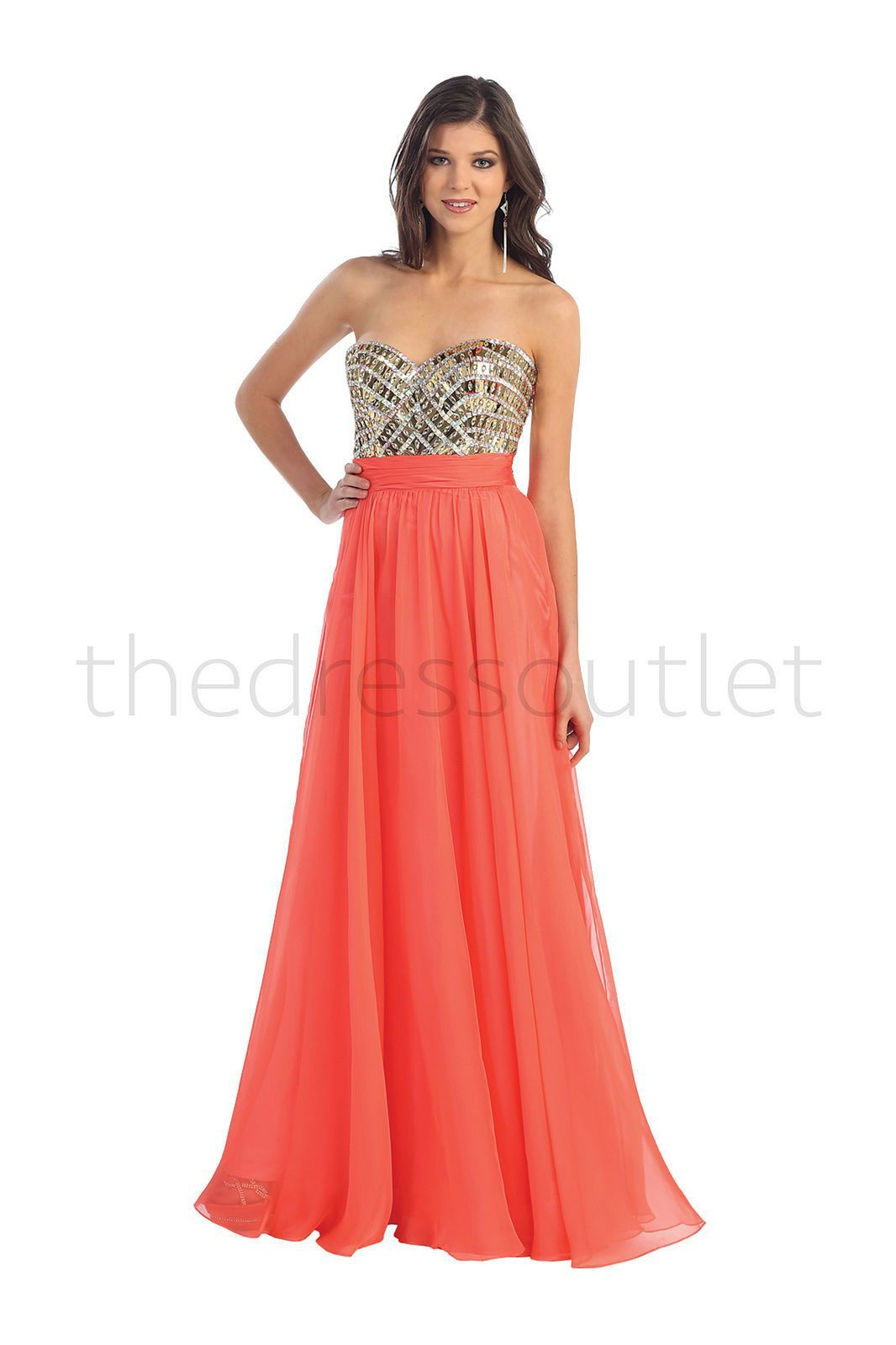 Strapless prom sheer overlay formal evening long formal gown