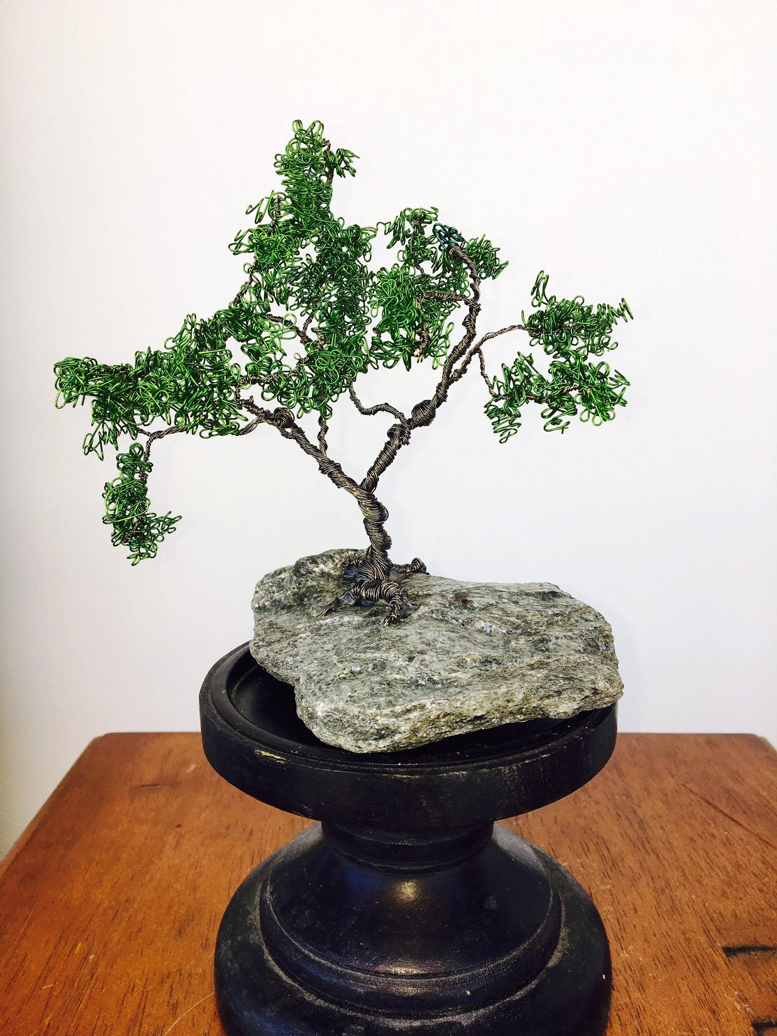 Incredible Wire Bonsai Tree On Stone By Studiosinnett On Etsy Copper Wire Wiring 101 Mecadwellnesstrialsorg