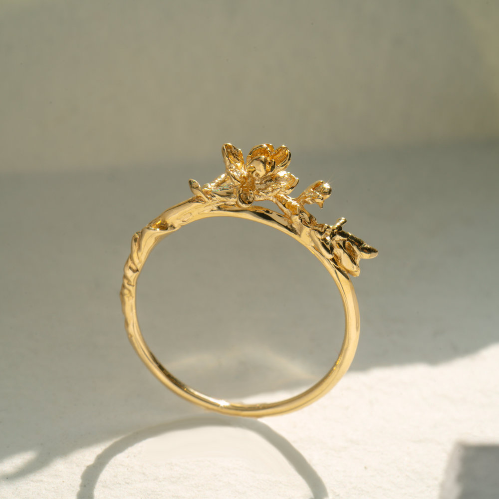 Magnolia Branch — Laurie Fleming Jewellery in 2020 Gold