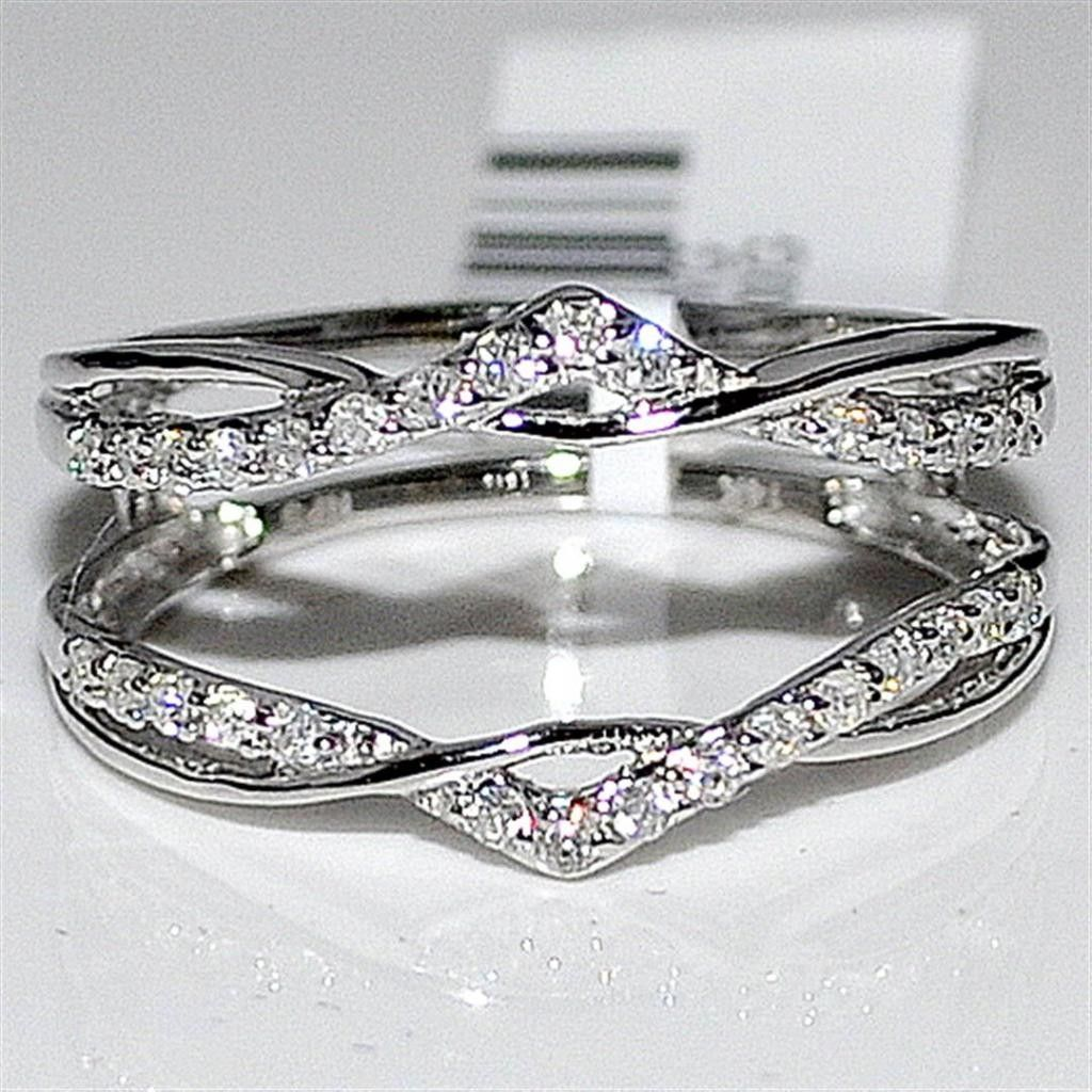 curved gold band diamond wedding ring cradle rings enhancer