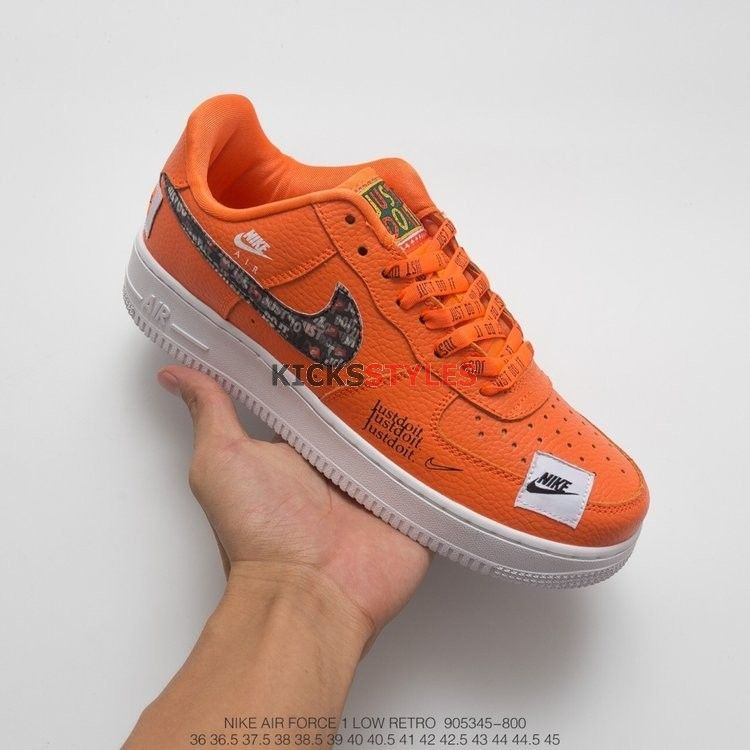 Nike Air Force 1 Low Just Do It Pack Total Orange Ar7719 800 With