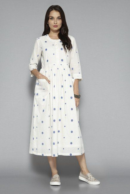 4d2946db2f8 Bombay Paisley by Westside Off White Polka Dot Dress