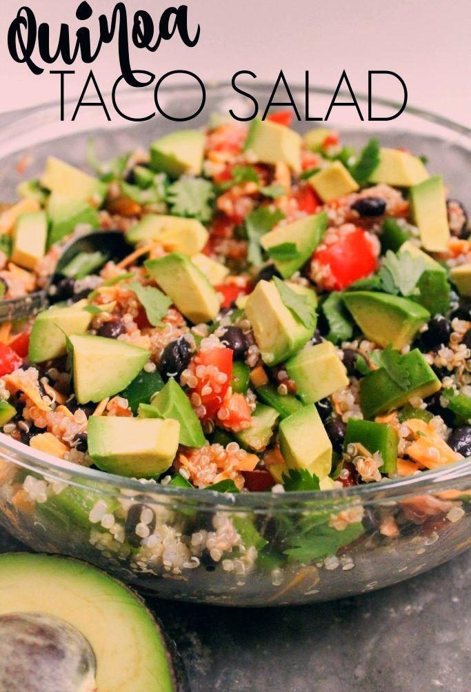 Quinoa Taco Salad - fANNEtastic food | Registered Dietitian Blog | Recipes + Healthy Living + Fitnes...