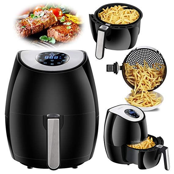 Zenchef Newest Air Fryer 2 7qt Touch Screen Control W 7