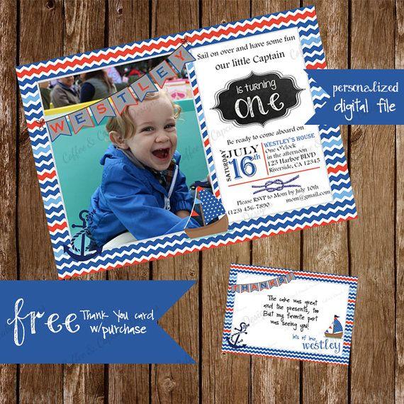 nautical birthday invitation photo birthday invitation first