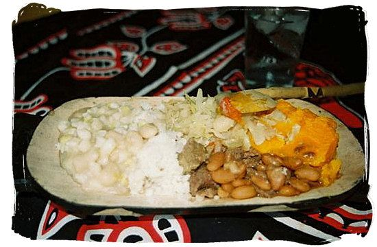 Typical xhosa or zulu dish consisting of samp rice beans join us on a traditional african food safari and discover some of the most exotic and exceptional dishes in the world forumfinder Choice Image