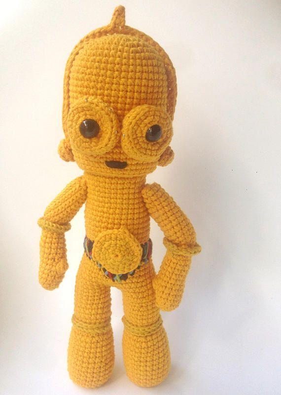 C3PO - Patrón de ganchillo/Amigurumi | Star Wars crochet amigurumis ...