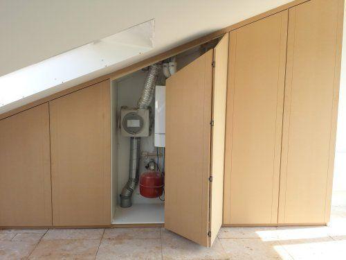 Door decosier op maat gemaakte inbouwkast onder schuin dak for Inbouwkast op maat
