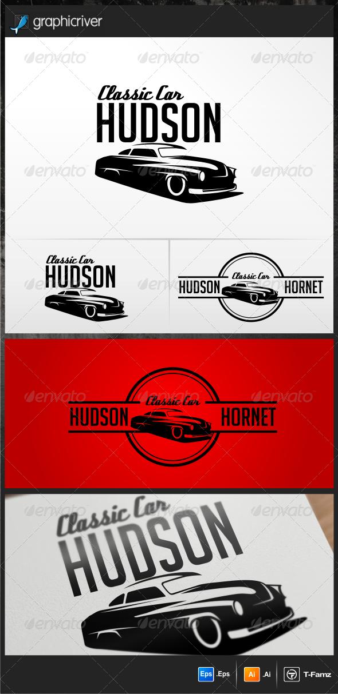 Classic Car Hudson Logo Templates GraphicRiver 100
