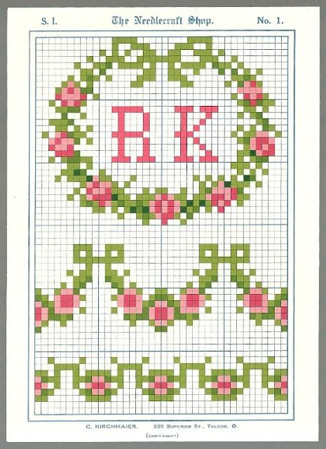 Free vintage cross stitch patterns! | Sew On and Sew Forth
