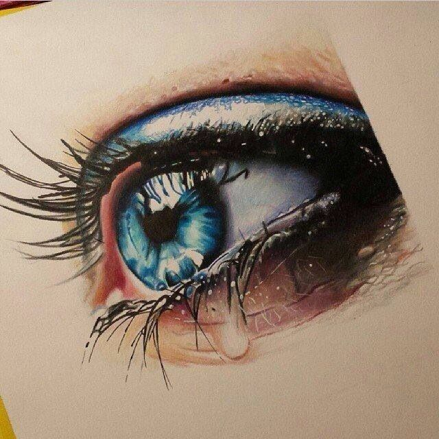 Crying Eye With Images Eye Painting Eye Art Color Pencil Art