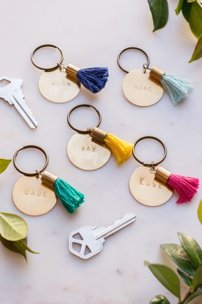 How cute are these tasseled keychains   9dd278c07