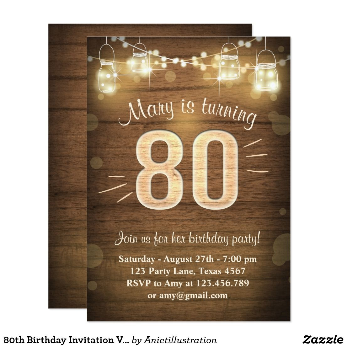 80th birthday invitation vintage eighty birthday 80th birthday 80th birthday invitation vintage eighty birthday stopboris Image collections
