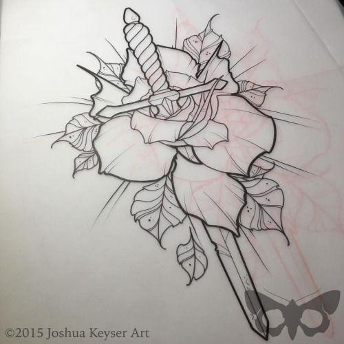 neo traditional dagger tattoo - Buscar con Google | Art ... Traditional Dagger Tattoo Outline