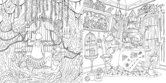 Romantic Country The Second Tale Coloring Book for adult Japanese ...