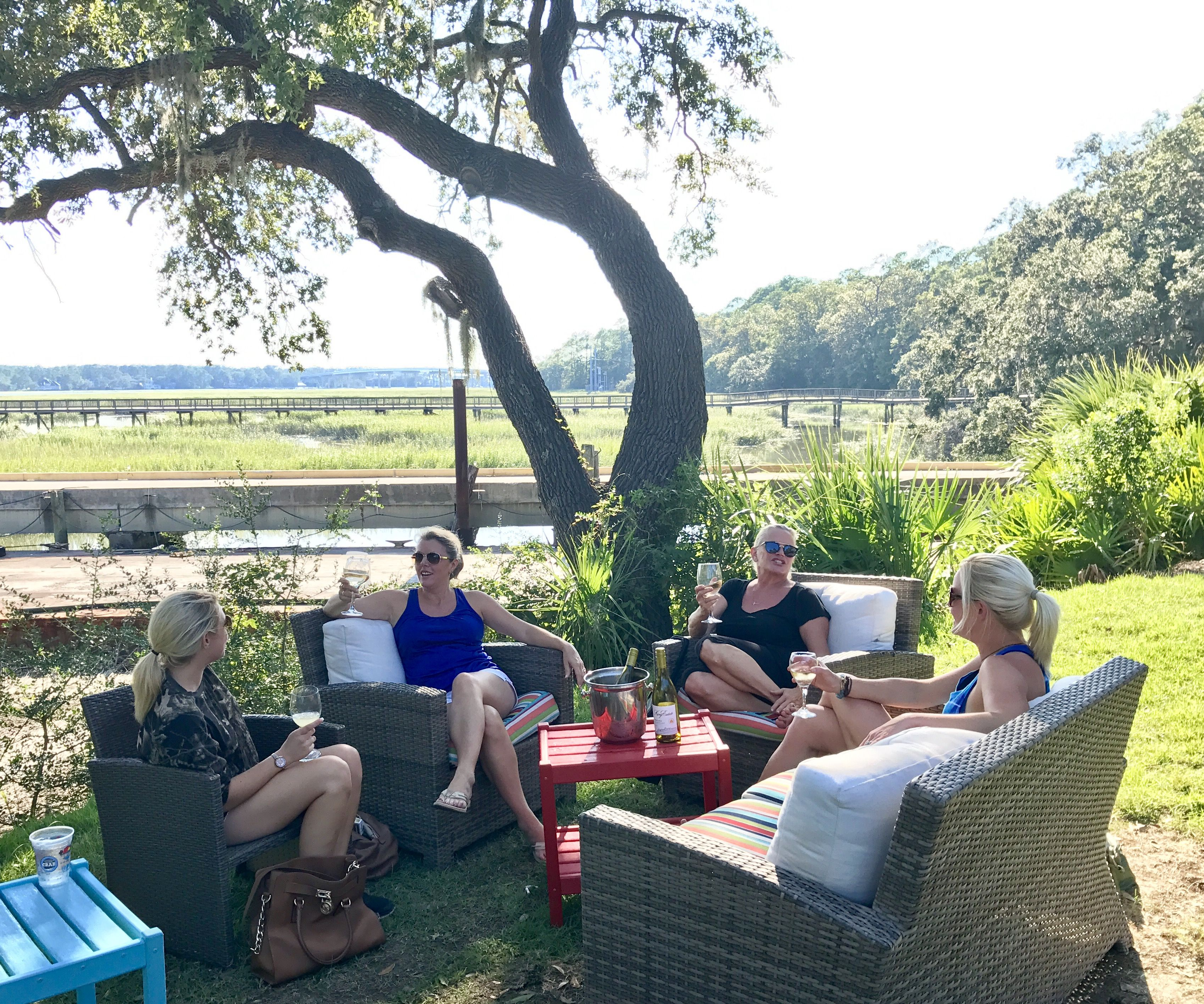 Ladies Wine Happy Hour (With images) | Waterfront dining ...