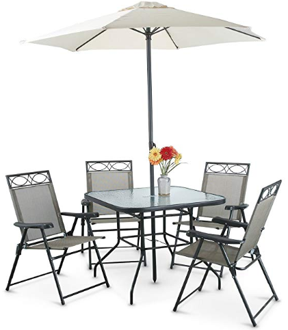 Amazon : 6 Piece Patio Table & Chairs Furniture Set Just $99.99 (Reg :  $275.99 LAST WEEK!!) (As of 8/1/2018 10.57 PM CDT) - Amazon : 6 Piece Patio Table & Chairs Furniture Set Just $99.99 (Reg
