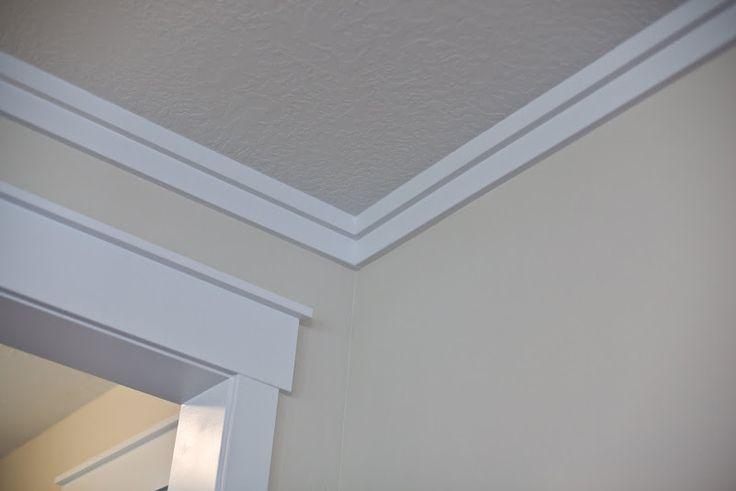 Window crown molding ideas simple life pinterest for Bathroom ceiling molding ideas