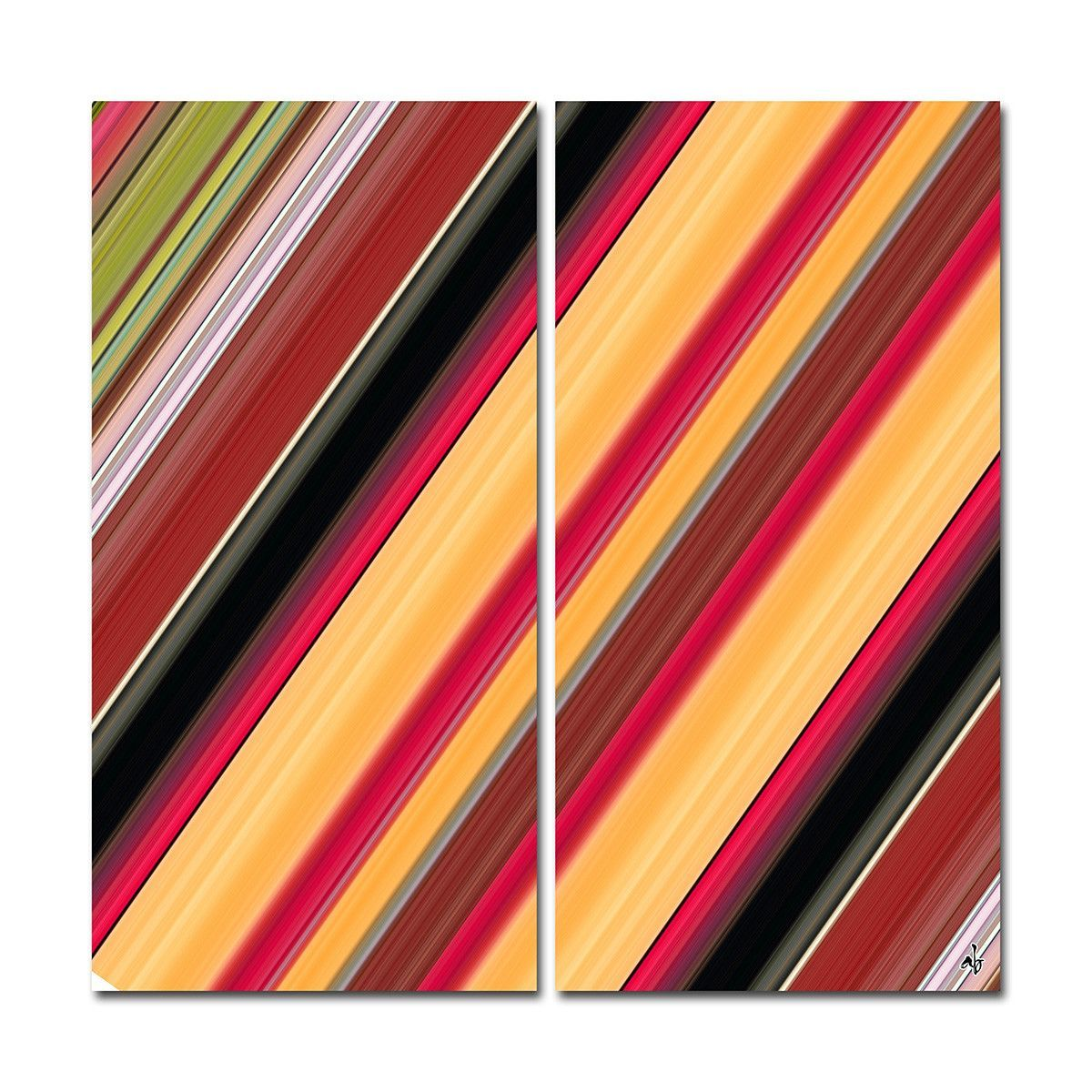 'Geometric Study VIII' by Alexis Bueno 2 Piece Graphic Art on Wrapped Canvas Set