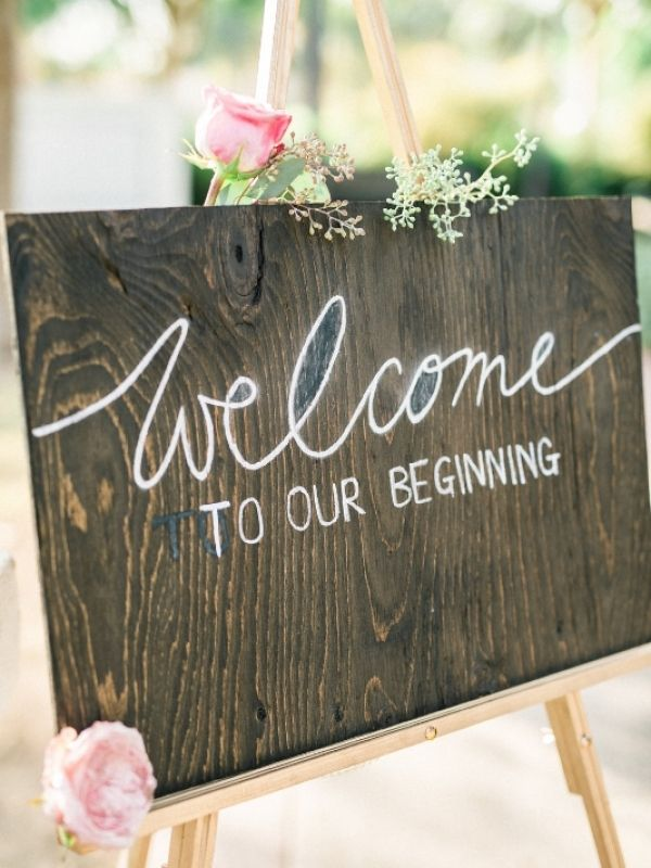 Vintage Wedding Inspiration Welcome Boards Could Write Your Own