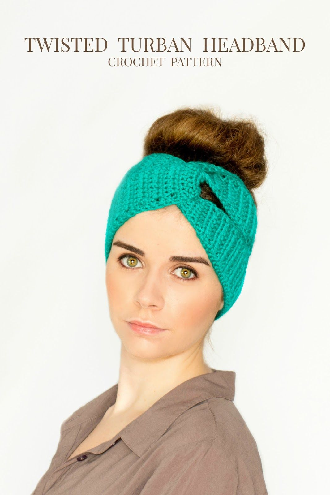 Twisted Turban Headband Crochet Pattern | Pinterest | Häckeln ...