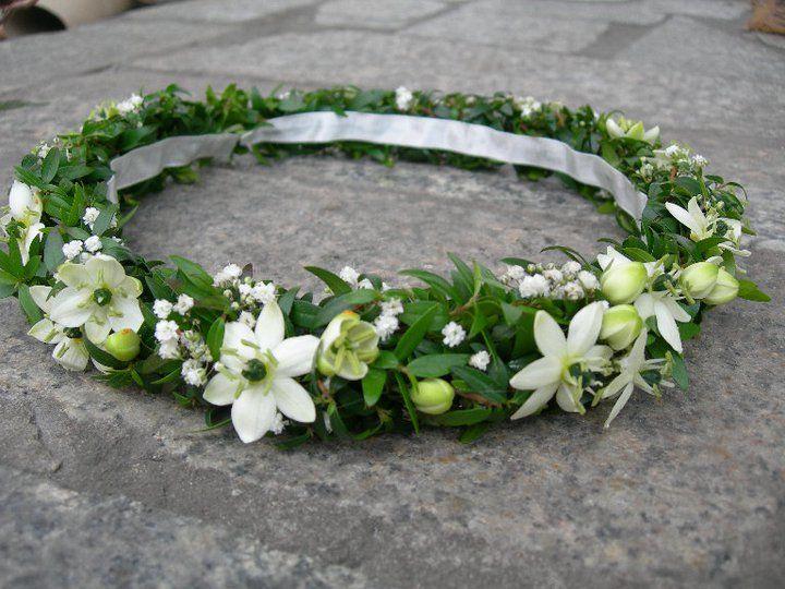 W 030 wedding flower crown komunia First Holy Communion wreath wianek komunijny