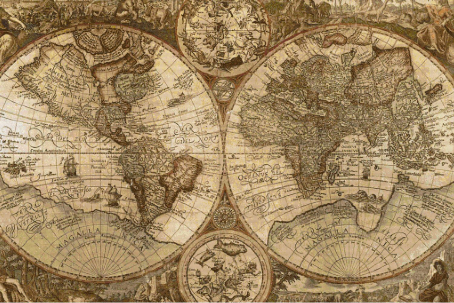 Cross stitch pattern antique world map instant downloadetsy cross stitch pattern antique world map instant downloadetsy wildstitchdesigns https gumiabroncs Image collections