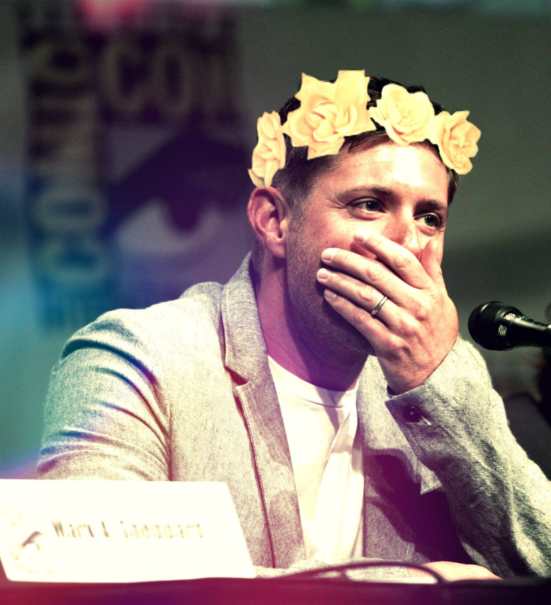 Jensen Ackles Flower Crown