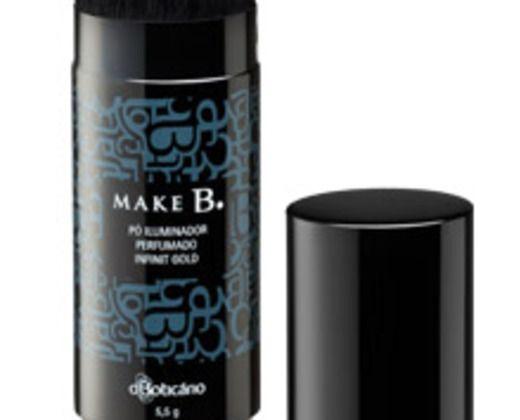 iluminador perfumado R$65,75 foi só testado (duas vezes), porque a ra não gostou do efeito nela.tem perfume bão demais.Pó Iluminador Perfumado Infinit Gold, Boticário, 5,5 g, Make B.