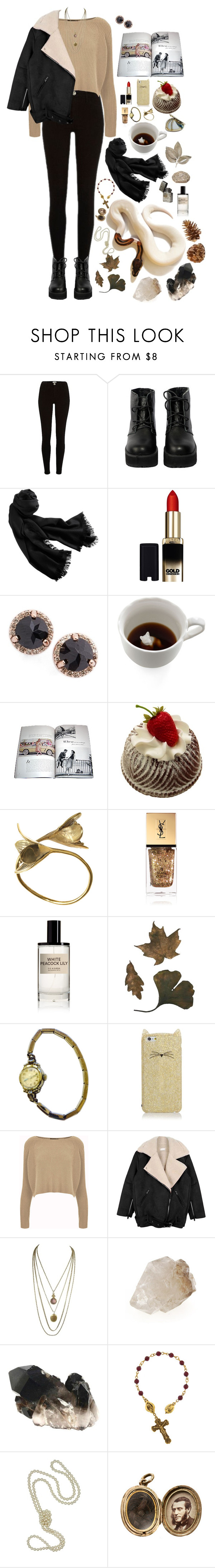 """""""Vir Voyt"""" by alice-tellur ❤ liked on Polyvore featuring The WhitePepper, Cole Haan, L'Oréal Paris, Anna Sheffield, Dot & Bo, Marc Jacobs, Monserat De Lucca, Yves Saint Laurent, D.S. & DURGA and Elgin"""