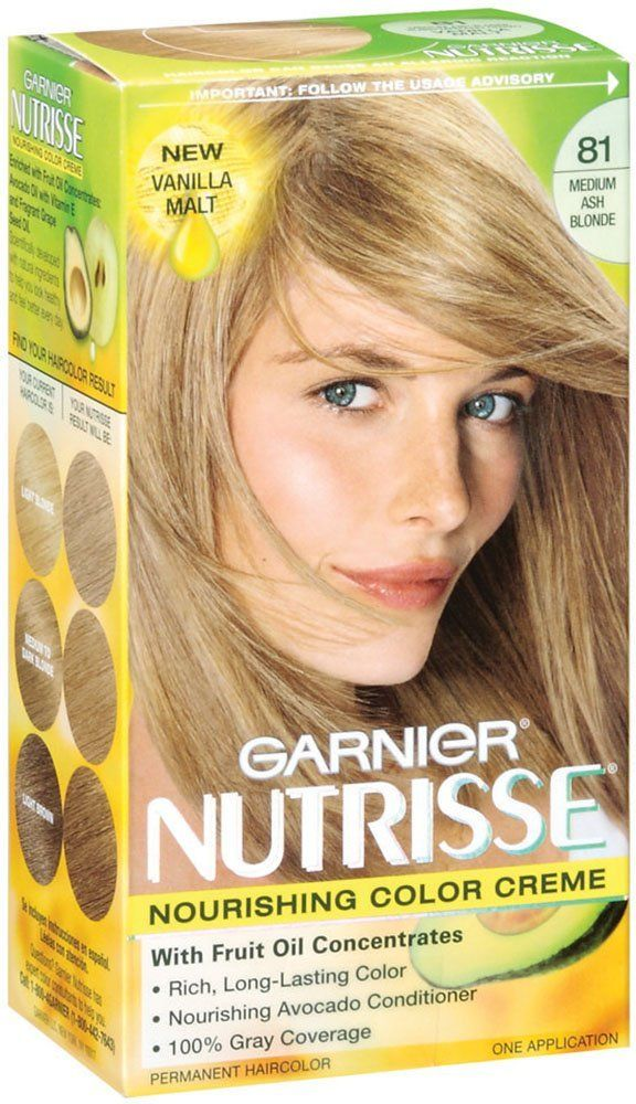 Garnier Nutrisse Haircolor 81 Medium Ash Blonde Vanilla Malt You