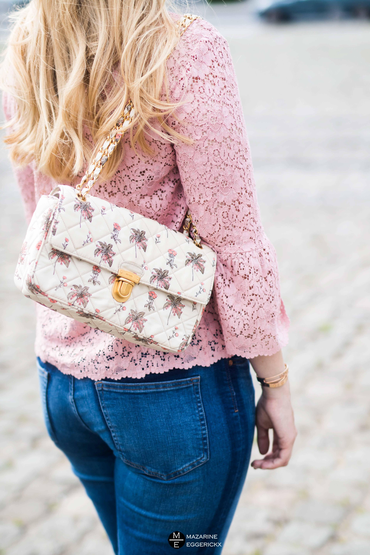 CHANEL Chevron Flap fuchsia pink bag   CMEO COLLECTIVE